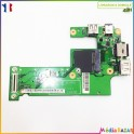 Carte USB ethernet  jack DG15 IO BOARD 48.4HH02.011 Dell Inspiron N5010