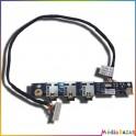 Carte son, casque et micro + nappe LS-4081P JBK00 HP Pavilion DV7-1000 série