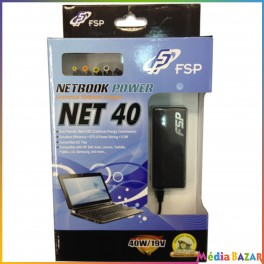 Chargeur Universel NET40 Netbook 40W/19V 4711140484501 + 5 embouts