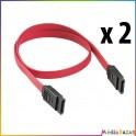 2 câbles connecteur SATA droit