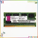 Barrette mémoire sodimm 2GB  DDR3 2Rx8 PC3-10600S Kingston