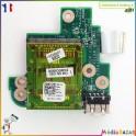 Carte connecteur USB + lecteur de carte 0KTX5C + nappe Dell Inspiron 1570