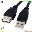 Cable rallonge USB 2.0 Mâle  Femelle 0.75 m type A A